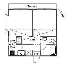レオパレス西台[1階]の間取り