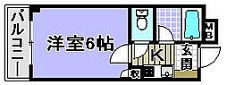 ドミール小松里[209号室]の間取り