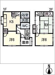 [一戸建] 岐阜県大垣市笠木町 の賃貸【/】の間取り