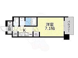 スプランディッド新大阪5 10階1Kの間取り