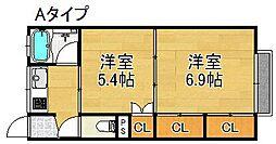 メゾン北加賀屋[3階]の間取り