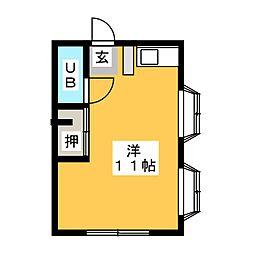 第1要ハイツ[2階]の間取り
