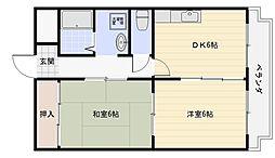 サンフォレスト[2階]の間取り