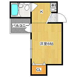 リーベ川原崎[5階]の間取り