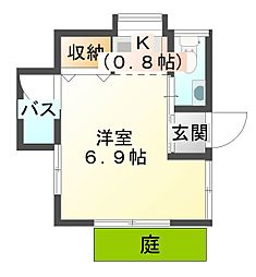 [一戸建] 愛媛県宇和島市保手1丁目 の賃貸【/】の間取り