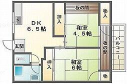 富久荘[1階]の間取り
