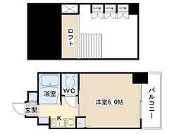 エステムコート梅田東アクアパレス[9階]の間取り