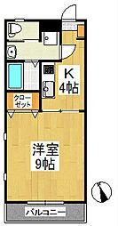 メープルコートI[3階]の間取り