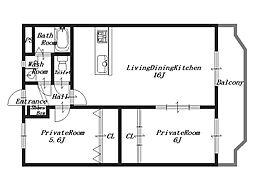 都[3階]の間取り