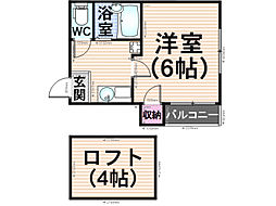 プリマヴェーラ南福岡[103号室]の間取り