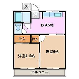 有王荘[2階]の間取り