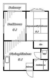 モエギハイム[2階]の間取り