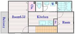 東京都板橋区前野町6丁目の賃貸アパートの間取り