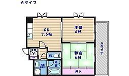 シェーヌパレ[5階]の間取り