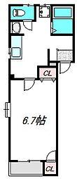 ラ・リンピア[4階]の間取り