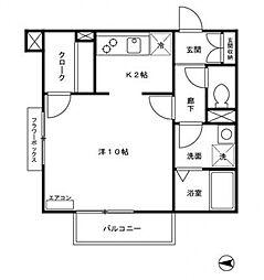パークサイドコート[3階]の間取り