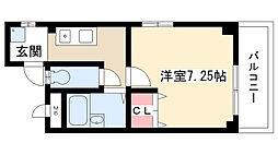 愛知県名古屋市守山区喜多山2丁目の賃貸アパートの間取り