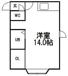 サンホームマンション16番館[203号室]の間取り