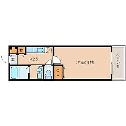 奈良県生駒市小明町の賃貸アパートの間取り