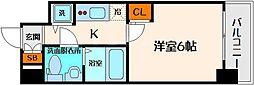 エスリード大阪城 8階1Kの間取り