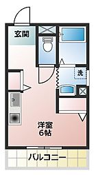 ワールドコート東加古川[3階]の間取り