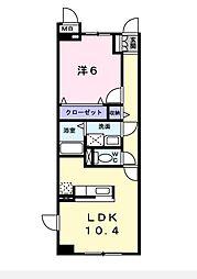 エスペランサ[305号室]の間取り
