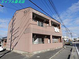 三重県桑名市大字桑部の賃貸アパートの外観