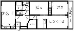 月岡ビル[3階]の間取り