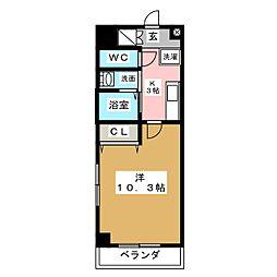 ラフィーネ名駅西[6階]の間取り