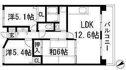 ルミエール多田[2階]の間取り