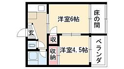 愛知県名古屋市昭和区雪見町3丁目の賃貸マンションの間取り