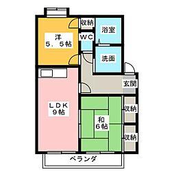 ラフィネII[2階]の間取り