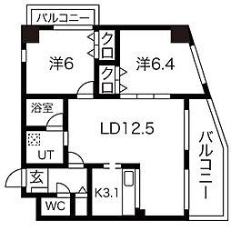 小原橋マンション[4階]の間取り
