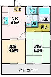 埼玉県富士見市羽沢2丁目の賃貸アパートの間取り