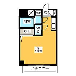 イースト天神・STUDIO[7階]の間取り
