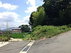 角地で向かいは公園と畑、バックは林が広がります
