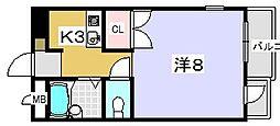 プチシャトレ ミシュラン[304号室]の間取り