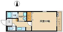 兵庫県尼崎市長洲中通3丁目の賃貸アパートの間取り