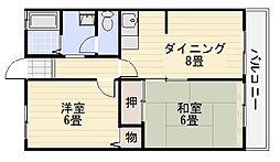 ハ〜モネート浜寺B[103号室]の間取り