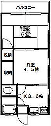 神奈川県川崎市高津区新作2丁目の賃貸アパートの間取り