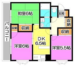 第1YSハイツ[1階]の間取り