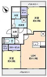 ロイヤルコートC[2階]の間取り