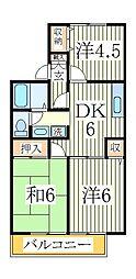 セジュールハイツ2[2階]の間取り