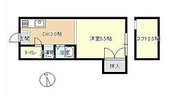 福岡県北九州市八幡西区則松6丁目の賃貸アパートの間取り