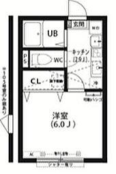 東京都町田市玉川学園6丁目の賃貸アパートの間取り