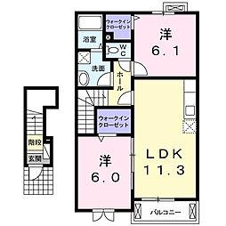ボニートI[2階]の間取り