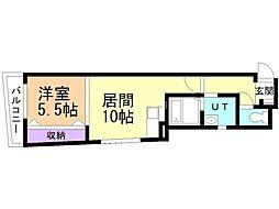 ADVAN wakou 2階1LDKの間取り