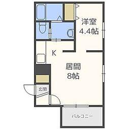 北海道札幌市中央区北一条西16丁目の賃貸マンションの間取り