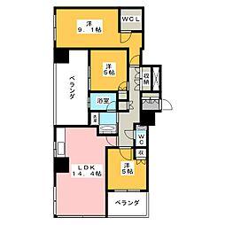 プラウドタワー覚王山[14階]の間取り