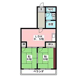 メゾンNAWA[3階]の間取り